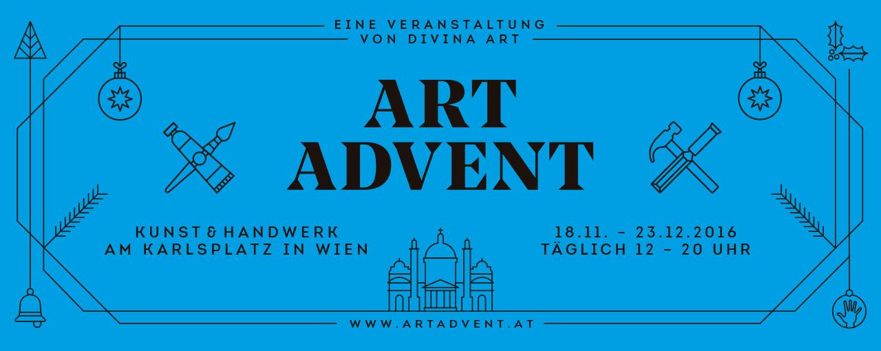 ART ADVENT Logo 2016 - Seit über 10 Jahren betreut die Gute Agentur den Adventmarkt am Karlsplatz.