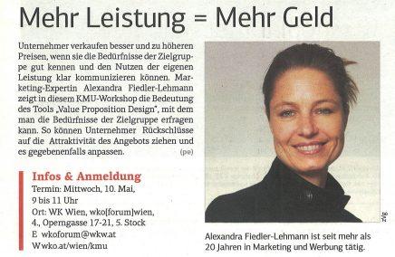 Fiedler-Lehmann in der Wiener Wirtschaft vom Mai 2017