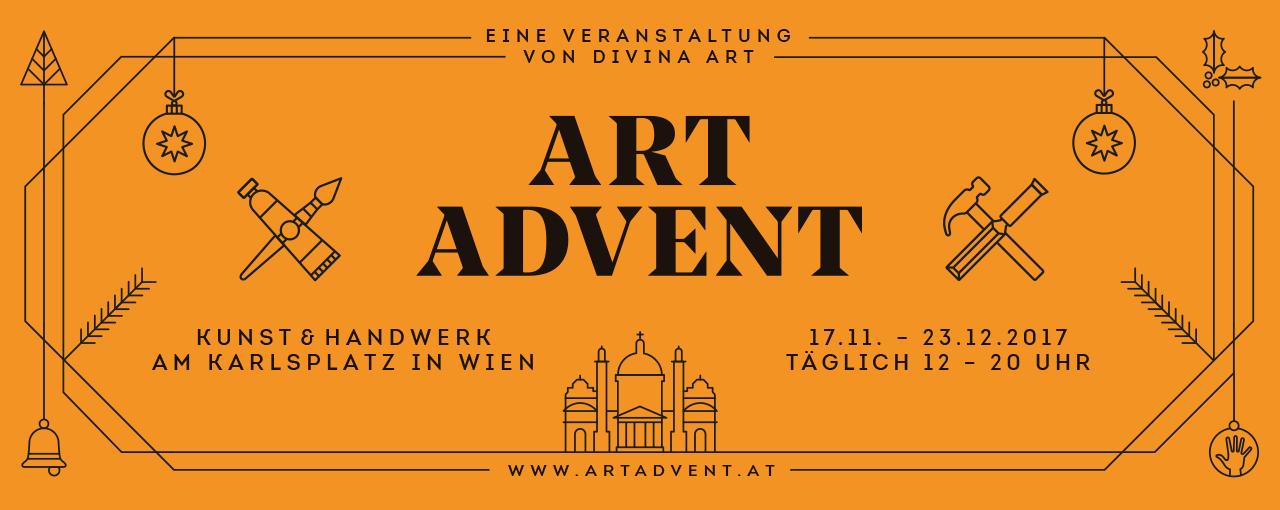 ARt Advent Logo 2017 - Seit über 10 Jahren macht die Gute Agentur PR für den Adventmarkt am Karlsplatz.