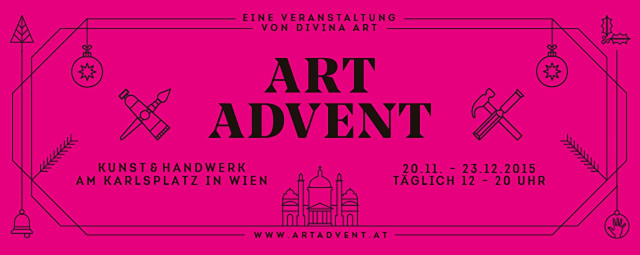 ART ADVENT Logo 2015 - Seit über 10 Jahren betreut die Gute Agentur den Adventmarkt am Karlsplatz.