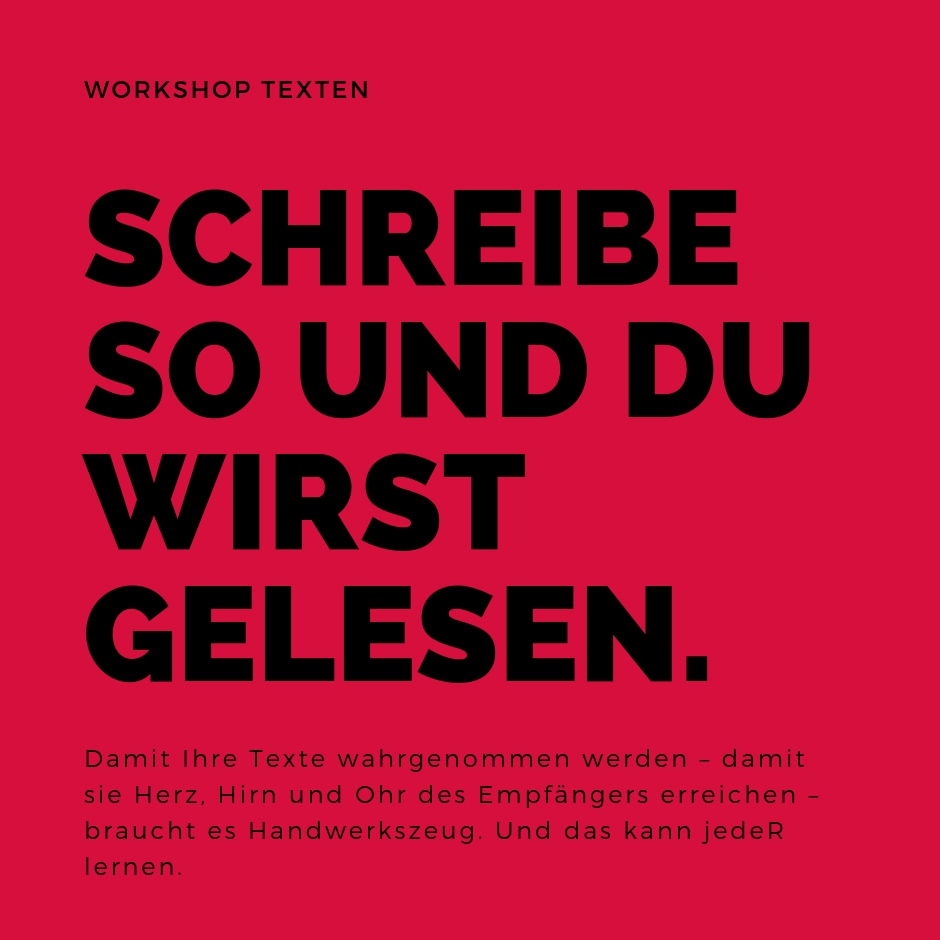Einladung zum Schreib-Workshop