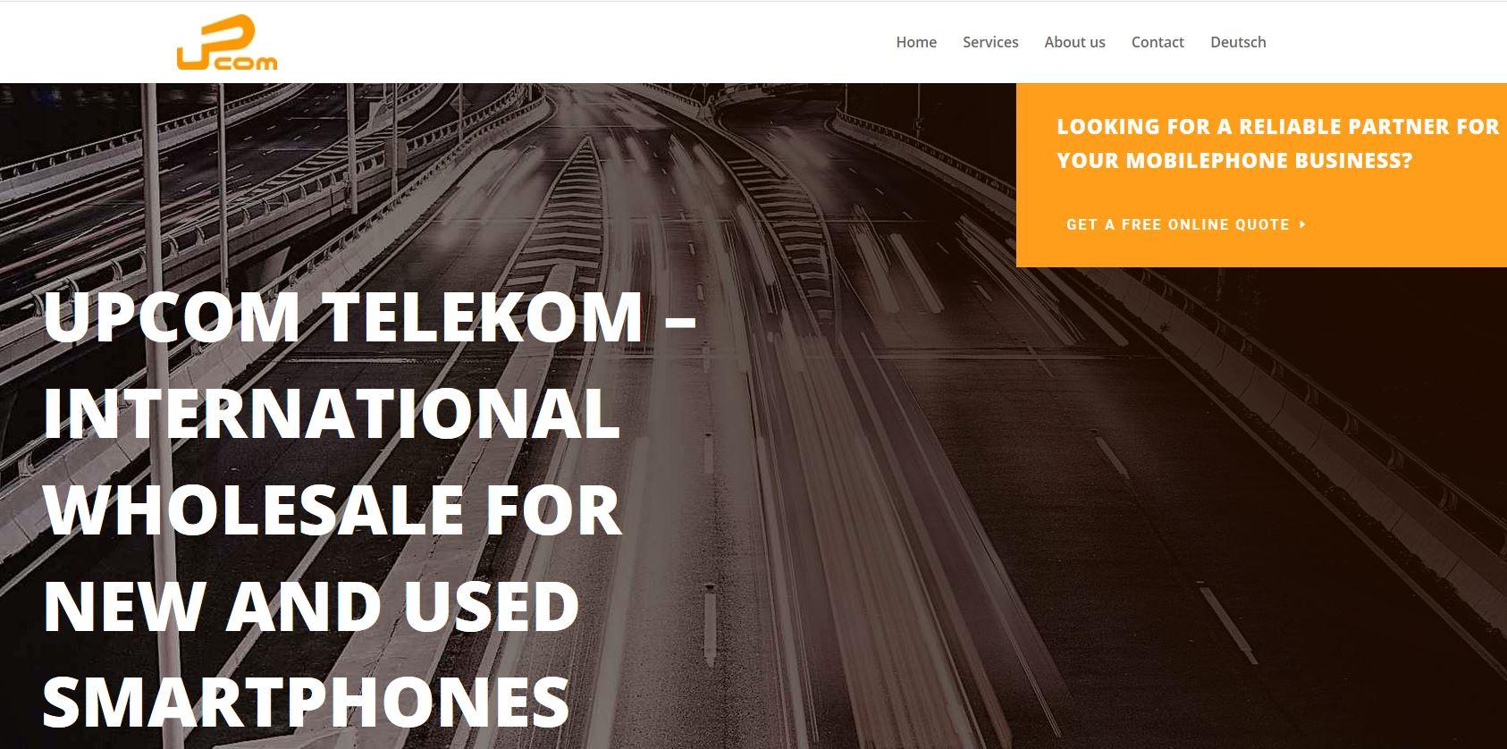 Screenshot der responsive Website upcomtelekom.com entwickelt von der Guten Agentur
