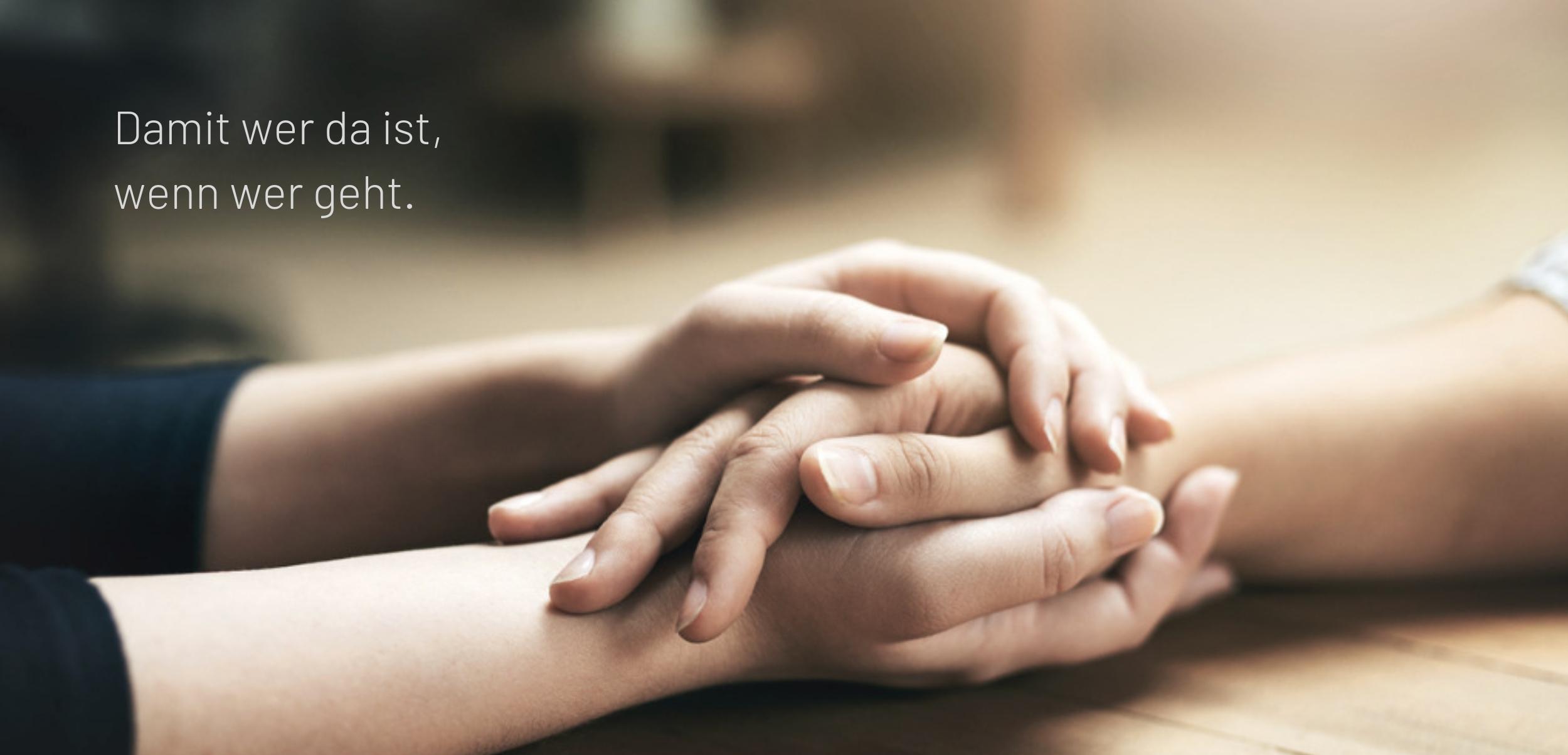 Werbetext - Claim für Trauerbegleiter