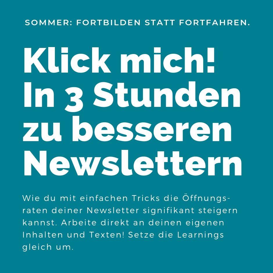 Ausschreibung Bessere Newsletter